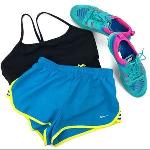 Nike Dry Fit Running Shorts + Brief Electric Blue